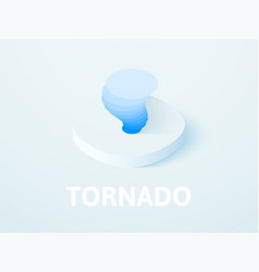 tornado isometric icon isolated on color vector image