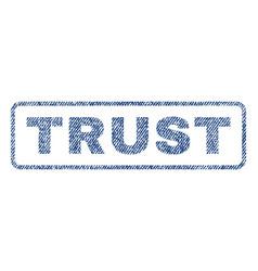 trust textile stamp vector image