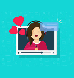 video call happy lovely girl vector image