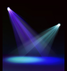 vivid stage spotlight vector image
