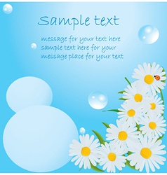 Water bubbles background vector