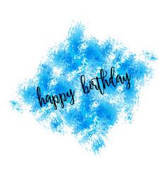 watercolor greeting card - happy birthday vector image