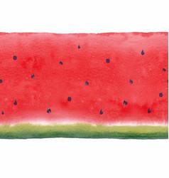 Watercolor watermelon seamless pattern vector