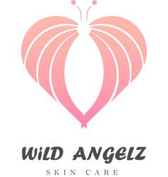 wild angelz logo vector image