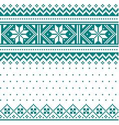 Winter christmas fair isle knit pattern vector