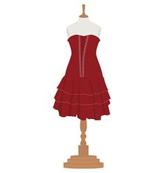 Woman dress on mannequin vector
