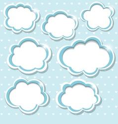 Blue frames vector image
