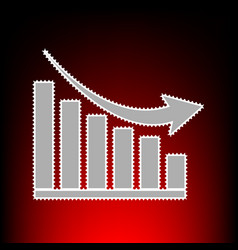declining graph vector image vector image