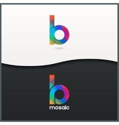 Letter b logo alphabet mosaic icon set background vector