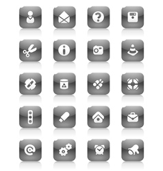Black buttons miscellaneous vector image vector image