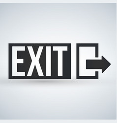 emergency exit sign isolated on white background vector image