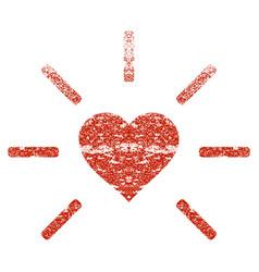 shine heart grunge texture icon vector image