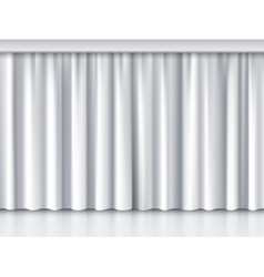 White stage curtain vector image