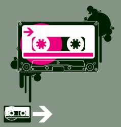audio tape old school vector image vector image