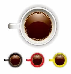 coffee cup top vector image