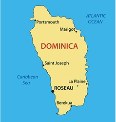 Commonwealth of Dominica - map vector image vector image