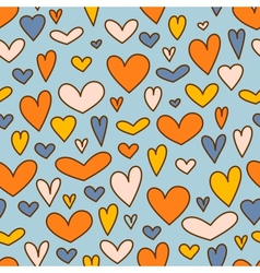 Holiday background with hearts for Valentines day vector image vector image