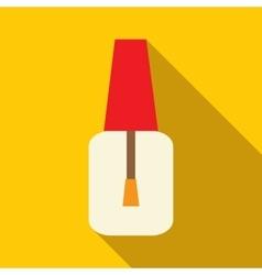 Nail polish bottle icon flat style vector