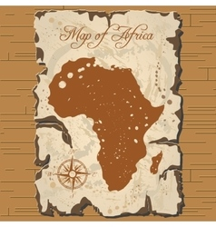 old parchament Map of Africa vector image