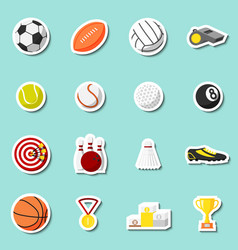 Sports stickers set vector image