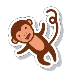 funny monkey isolated icon vector image vector image