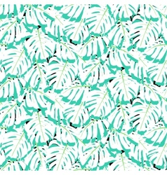 Seamless pattern with tropical leaves vector image vector image
