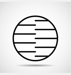 abstract circle of line design element vector image