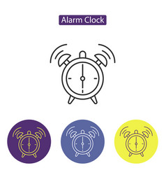 alarm clock line icon vector image