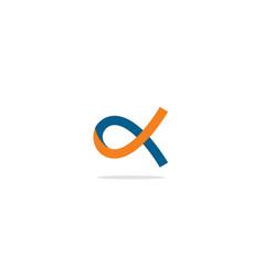 Alfa abstract colored logo vector