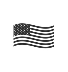 american flag icon isolated flag usa flat vector image