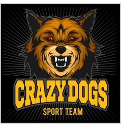 Angry dog - sport team vector