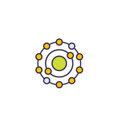 Antioxidant icon on white vector