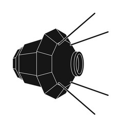 artificial space satellite of the earth space vector image