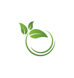 bio leaf icon design vector image