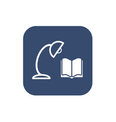Book and lamp icon vector