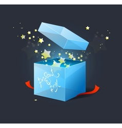 box with stars vector image vector image