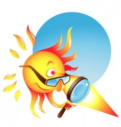 burning sun vector image vector image