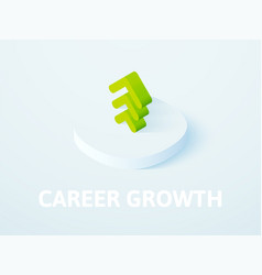 Career growth isometric icon isolated on color vector