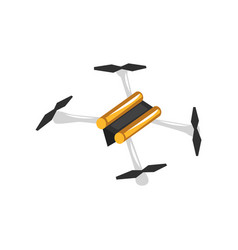 Cartoon of quadrocopter unmanned vector