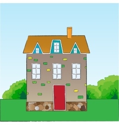 Cartoon style house vector
