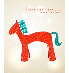 Chinese New Year 2014 Cute cartoon horse vector