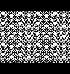chinese seamless pattern black and white vector image