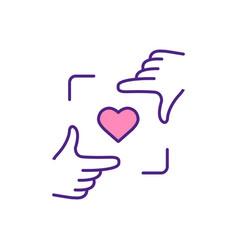 Choose future partner in dating app rgb color icon vector