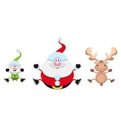 Christmas cartoon characters vector