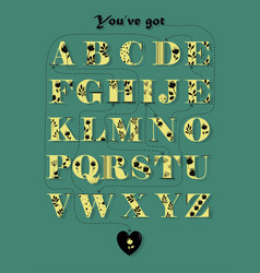 Cipher romantic message you have got what i need vector