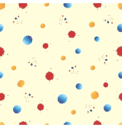 colorful paint watercolor seamless pattern vector image
