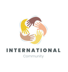 Community logo international communication vector