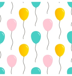 Cute balloons seamless pattern background vector