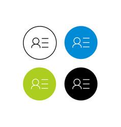 Design icon info profile vector