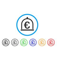 euro storage rounded icon vector image